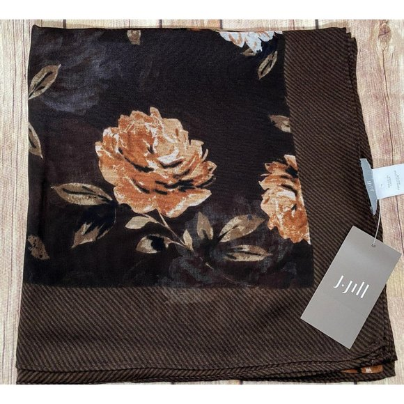 J. Jill Expresso Autumnal Roses Square Scarf